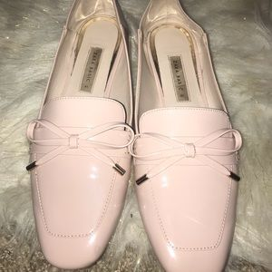 Zara Basic Collection bow front Nude flats Size 41